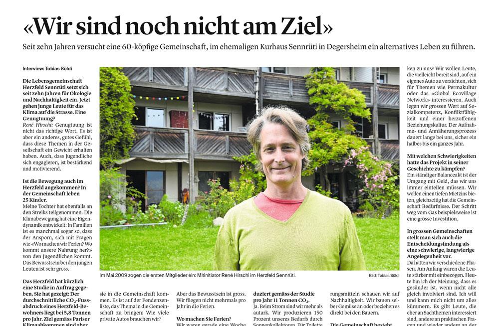 """""""Wir sind noch nicht am Ziel"""" in der Wiler Zeitung"""